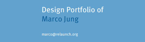 design portfolio of marco jung